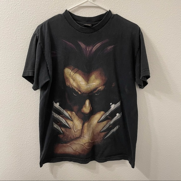 Marvel wolverine graphic t shirt black small